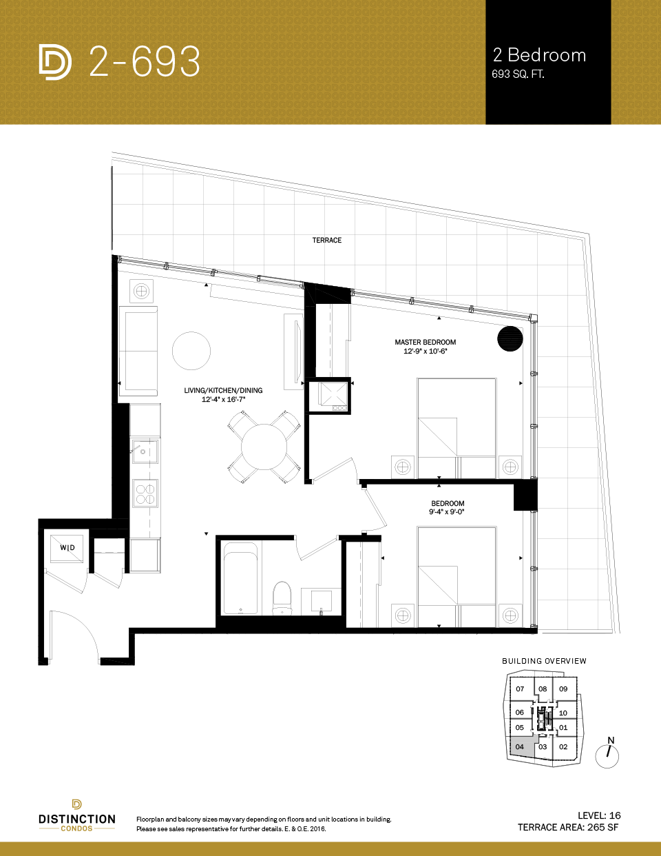 distinction condos floorplan 2-693