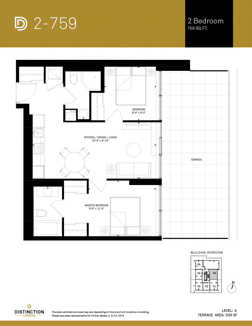 distinction condos floorplan 2-759