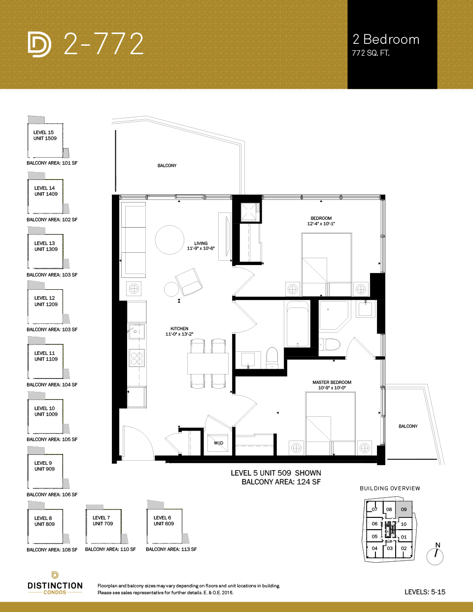 distinction condos floorplan 2-772