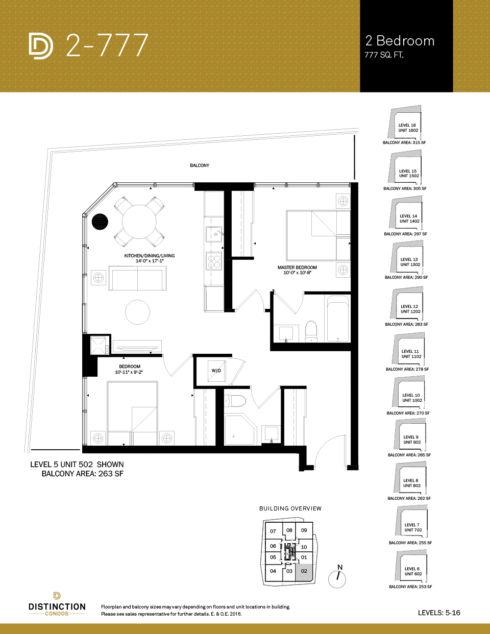 distinction condos floorplan 2-777