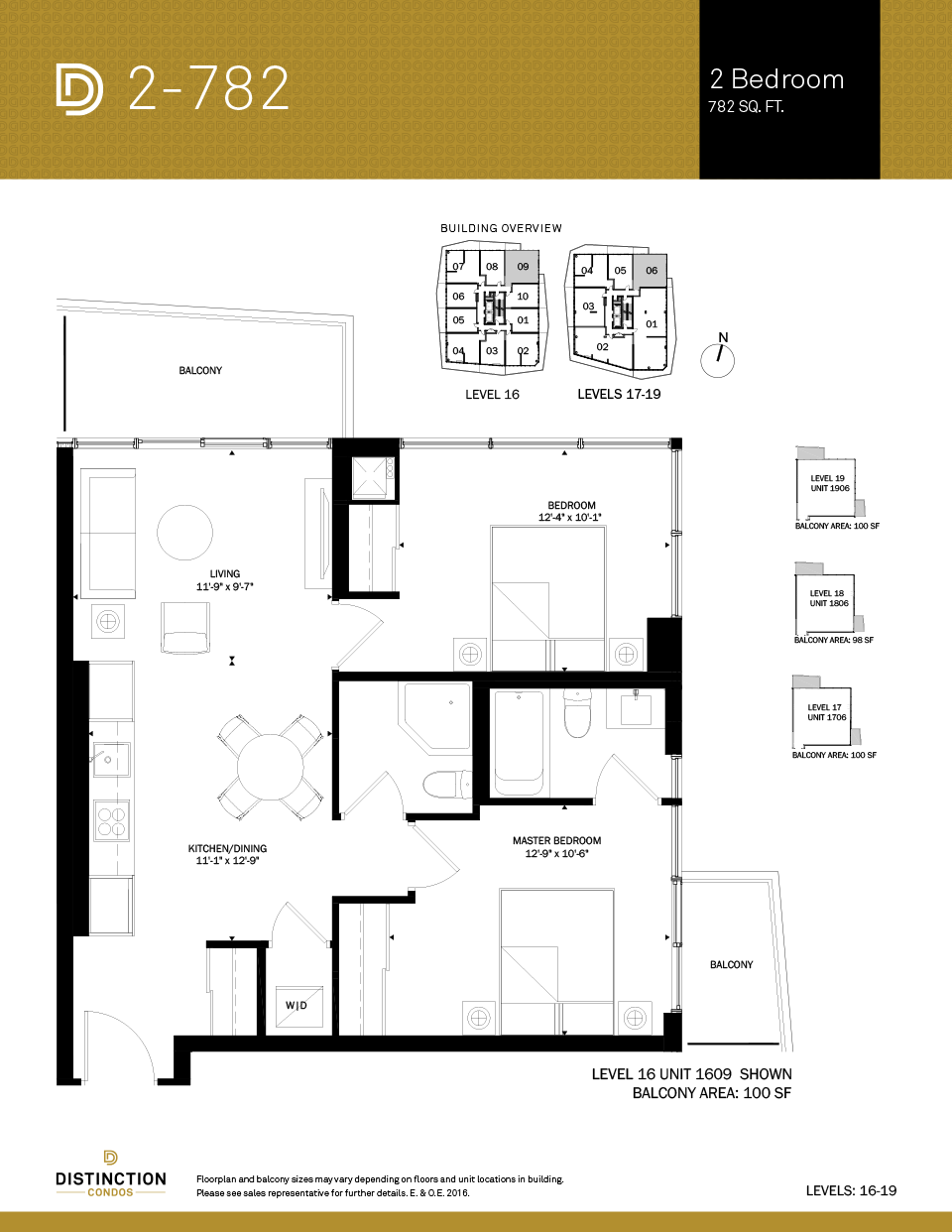 distinction condos floorplan 2-782