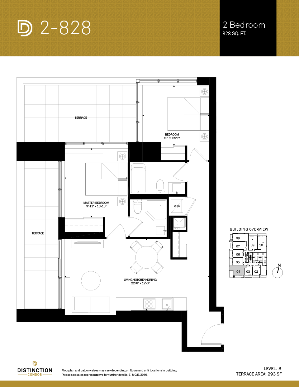 distinction condos floorplan 2-828