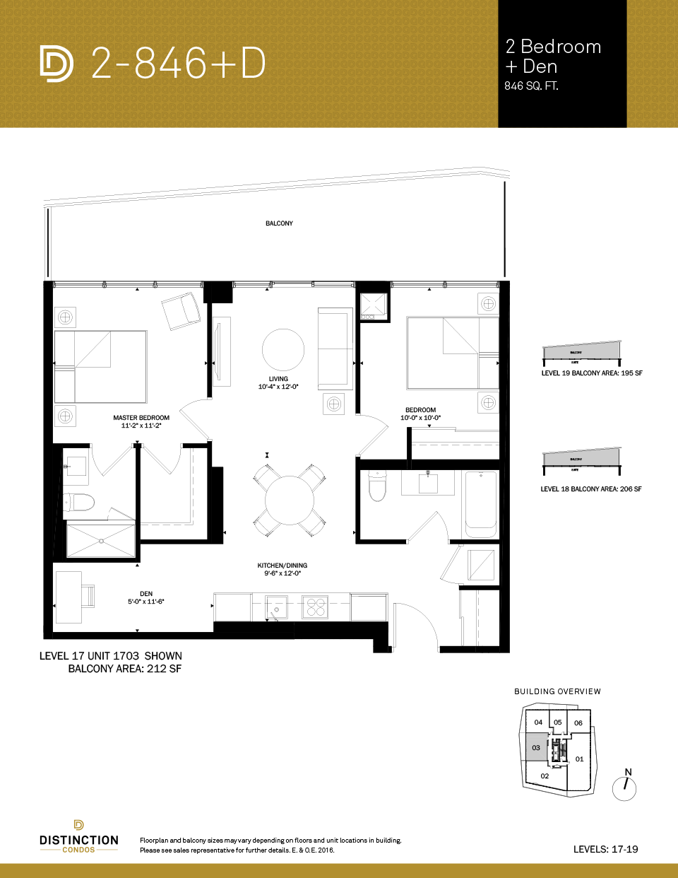 distinction condos floorplan 2-846d