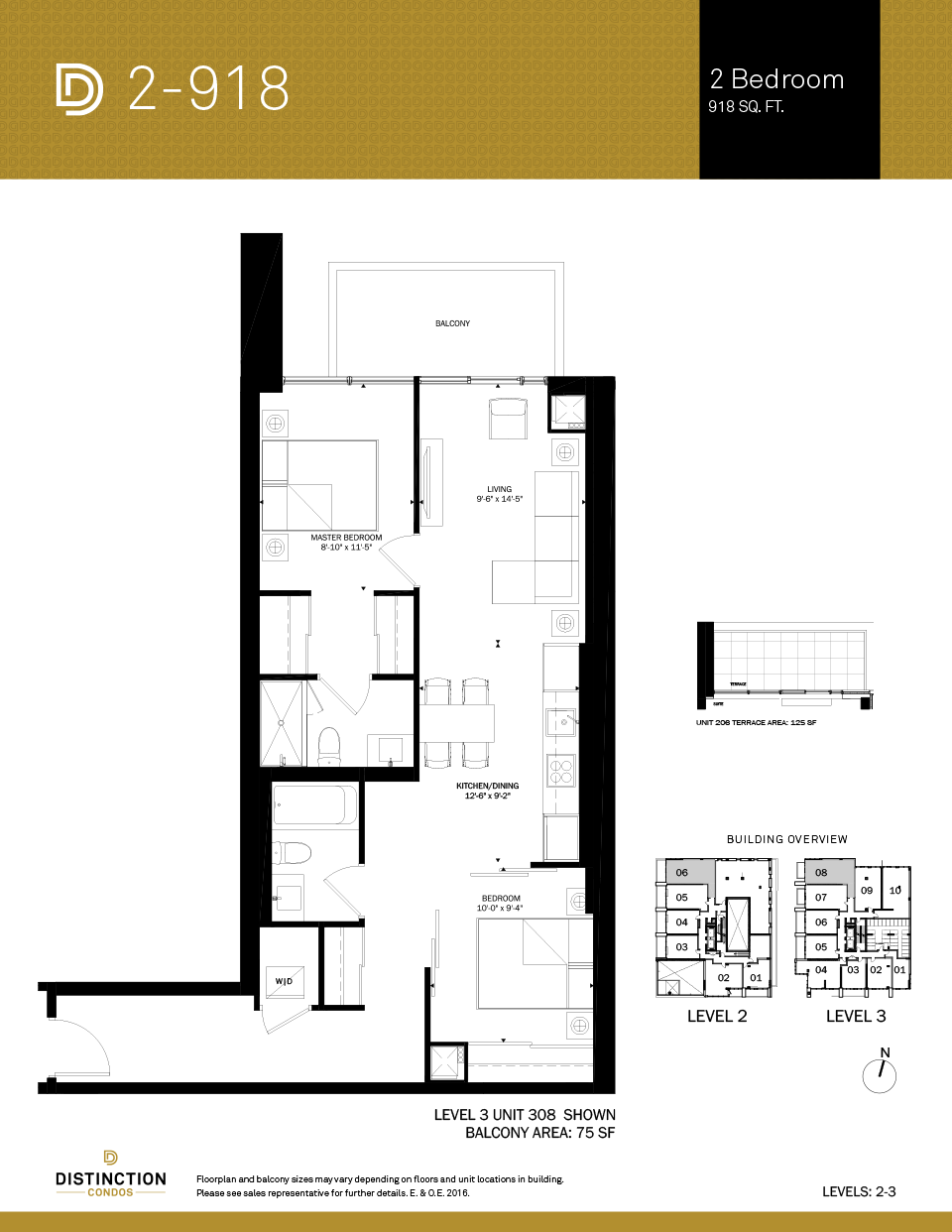 distinction condos floorplan 2-918
