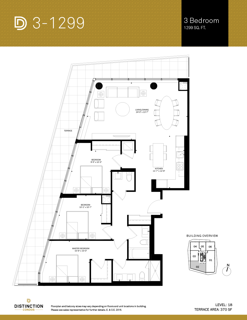 distinction condos floorplan 3-1299